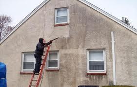 pressure wash stucco
