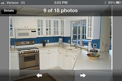 Venice, Florida kitchen before repaint picture