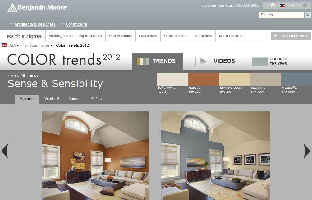 Benjamin Moore Paint Trend Called Sense and Sensibility (Pictures)
