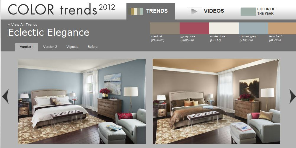 Benjamin Moore 2012 Color Trends of the Year- Eclectic Elegance