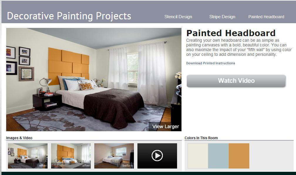 Interior Painting Ideas-Painted Headboard