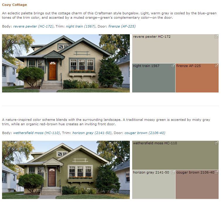 Benjamin Moore Curb Appeal- Cozy Cottage