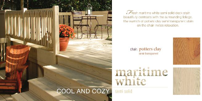Benjamin Moore Deck Stain Maritime White