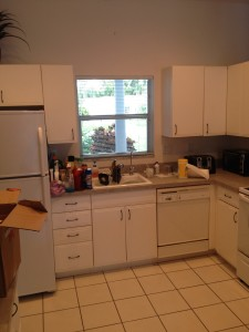 Venice, Florida kitchen interior repaint before photo