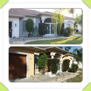 North Port Home Repaint Beginning and during project Photos 2014