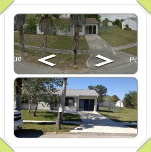 pressure washing before and after north port florida home repaint later.large