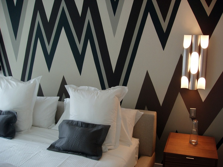 ... Graphic Wall Paint Is The Current Trend In Interior Design